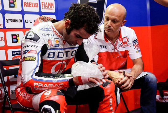 Danilo Petrucci infortunato (Foto di motorionline.com)