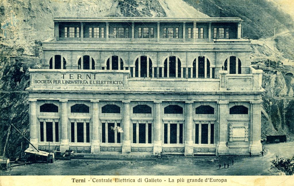 Foto storica Centrale Idroelettrica di Galleto - Terni