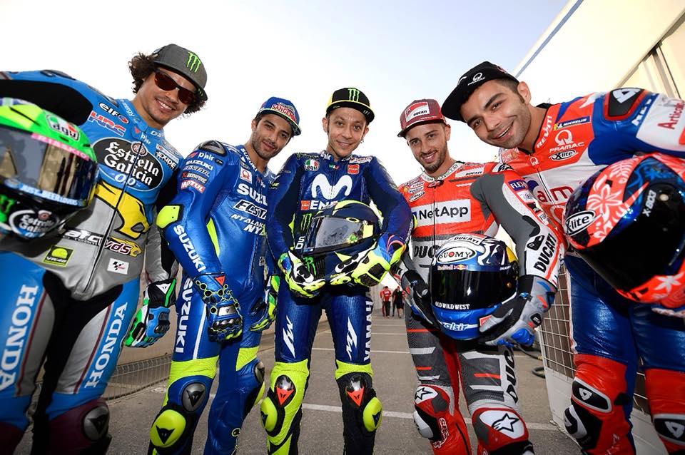 Gli italiani della MotoGP (foto dalla pagina Facebook di Danilo Petrucci)